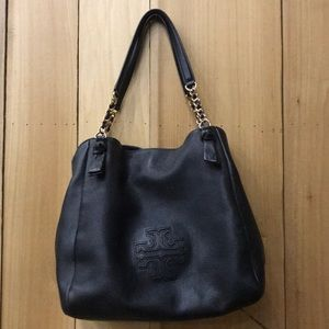 T*ry  Burch Black Handbag and Wallet Combo
